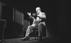Hoffman as Willy Loman, courtesy NY Times